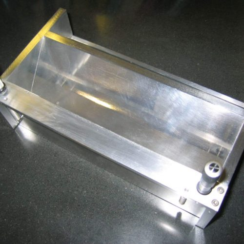 Doctor Blade Assembly for precision casting:  Stainless steel blade, with aluminum frame and micrometers